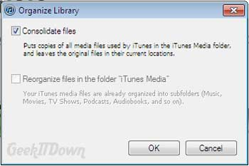 Transfer iTunes from PC to Mac Consolidate