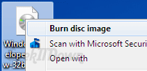 Windows 7 Tips and Tricks burn disc image
