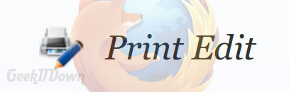 Selective Printing With Print Edit For Firefox