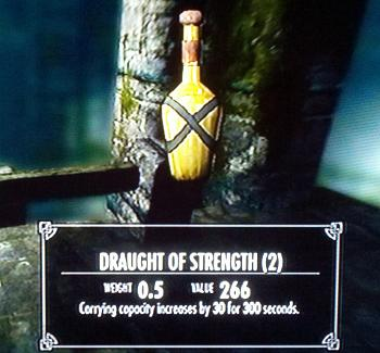 Skyrim Carry More Weight Draught Strength