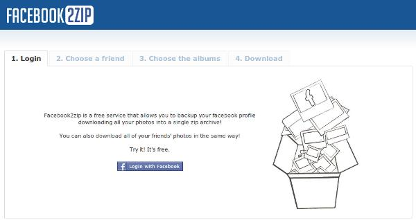 Facebook2Zip Backs Up Facebook Photo Albums In A Single Zip
