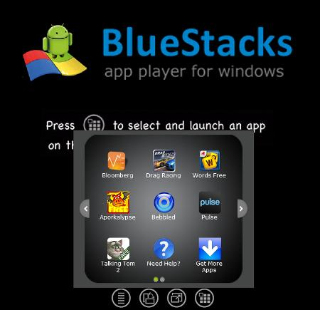 Bluestacks Apps Menu