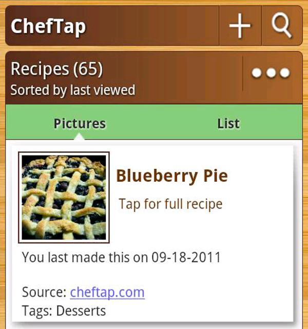 Cheftap Turns Your Android Device Into A Digital Cookbook