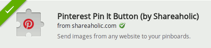 Pinterest Pin It extension