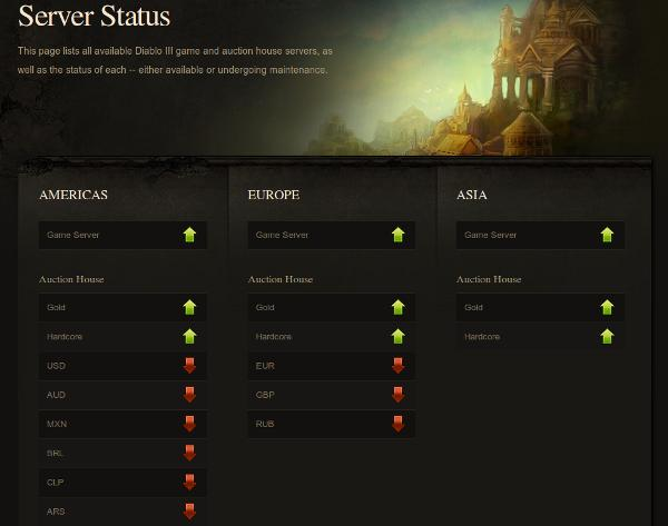 Check Diablo 3 Servers With This Handy Status Page