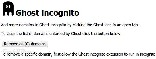 Ghost Incognito Options