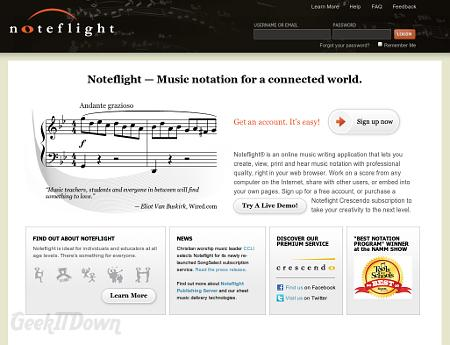 Nifty Websites Collection Noteflight
