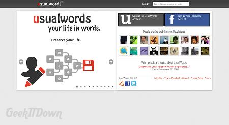 Usualwords - Map Your Life Experiences Socially