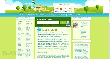 Nifty Websites Collection Yard Sale Search