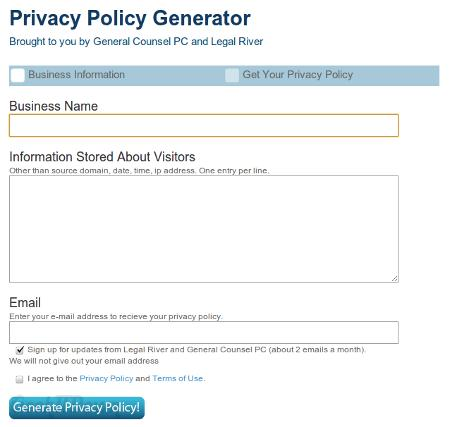 Create Your Own Privacy Policy And Terms Of Service