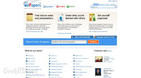 wePapers: Get Social With Your Knowledge Sharing