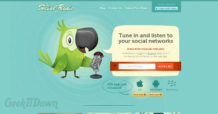 Nifty Websites Collection The Social Radio