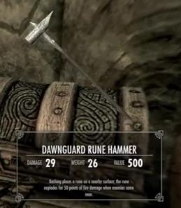Skyrim Dawnguard Rune Hammer
