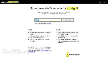 Highlight And Annotate Web Pages In The Cloud
