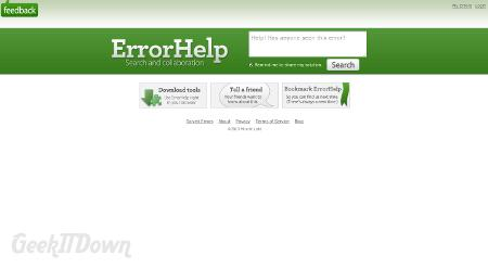 Nifty Websites Collection ErrorHelp