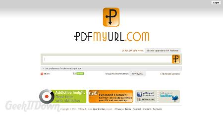 Preserve Any Website In PDF Format via PDFmyURL