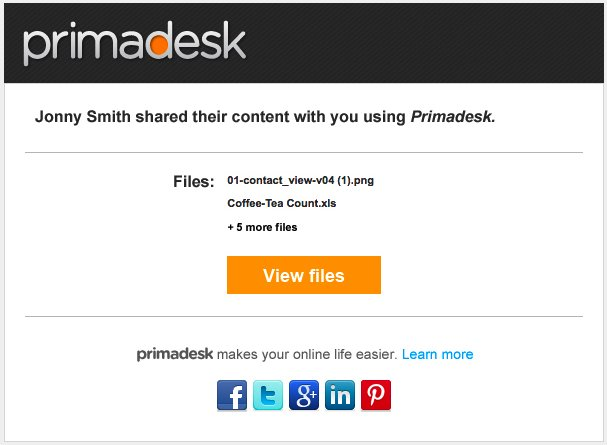 Primadesk Share Notice