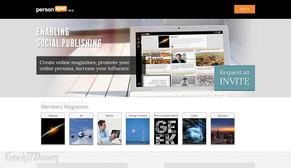 Create, Curate And Publish An Online Magazine through PersonSpot