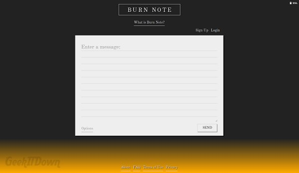 Nifty Websites Collection Burn Note