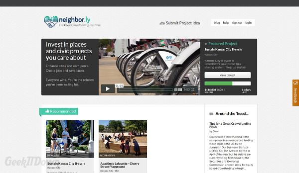 Kickstart Civic Projects With Neighbor.ly Crowdfunding