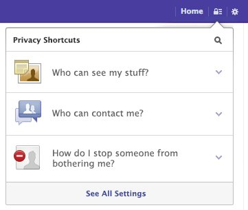 Facebook Privacy Settings 12/2012