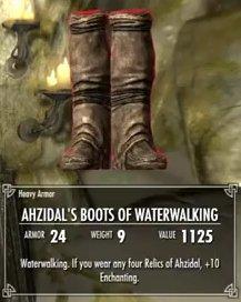 Skyrim Ahzidal Waterwalking Boots