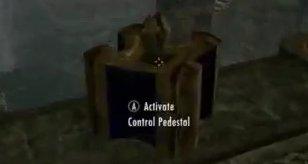 Skyrim Dragonborn Control Pedestal