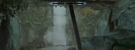 Skyrim Dragonborn waterfall hidden door